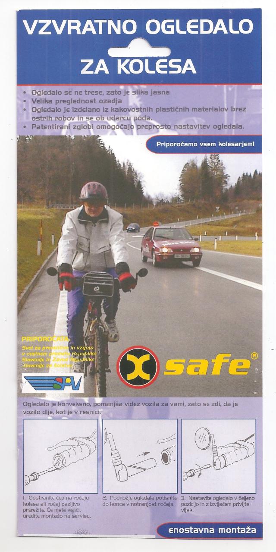 navodilo za montažo zrcala za varno kolesarjenje
